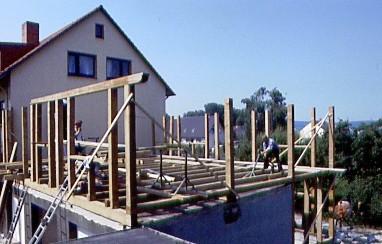 Holzskelettbauweise  Wohnhaus mit Anbau in Holzskelettbauweise